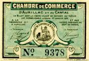 25 centimes - Chambre de Commerce d'Aurillac [15] -  avers