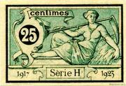 25 centimes - Chambre de Commerce d'Aurillac [15] -  revers