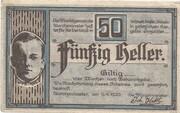 50 Heller (Aurolzmünster) – avers