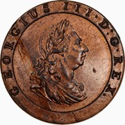 2 Pence - George III (1800 Proclamation coin - British Penny) – avers