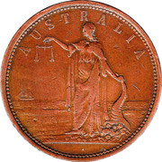 1 Penny (Martin & Sach - Adelaide, South Australia) -  avers