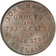 1 Penny (John Martin - Adelaide, South Australia) -  revers