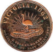 1 Penny (Robison Bros & Co - Melbourne, Victoria) -  avers
