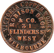 1 Penny (Robison Bros & Co - Melbourne, Victoria) -  revers