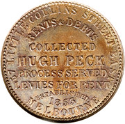 1 Penny (Hugh Peck - Melbourne, Victoria) -  revers