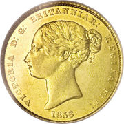 ½ Sovereign - Victoria – avers