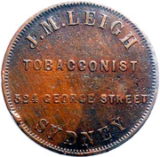 1 Penny (J.M. Leigh - Sydney, New South Wales) -  avers