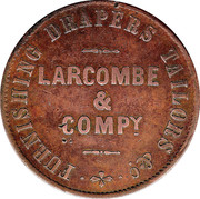 1 Penny (Larcombe & Compy. - Brisbane, New South Wales) -  revers