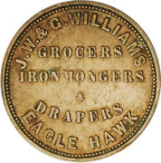 1 Penny (J. W. & G. Williams - Eaglehawk, Victoria) -  revers