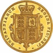 ½ Sovereign - Victoria – revers