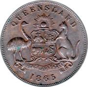 ½ Penny (John Pettigrew & Co. - Ipswich, Queensland) -  avers