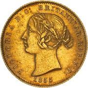 ½ Sovereign - Victoria (Essai) – avers