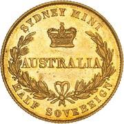 ½ Sovereign - Victoria (Essai) – revers