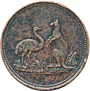 1 Penny (Hutton, G - Hobart Town, Tasmania) -  revers
