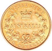 1 Sovereign - Victoria – revers