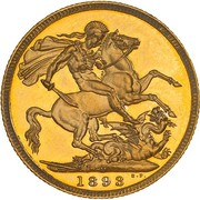 1 Sovereign - Victoria -  revers