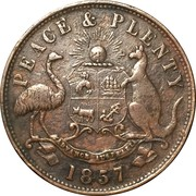 1 Penny Token (Hanks & Lloyd - Sydney, NSW) -  revers