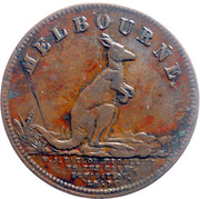 ½ Penny (W.J. Taylor - Melbourne, Victoria) -  avers