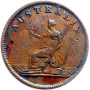 ½ Penny (W.J. Taylor - Melbourne, Victoria) -  revers