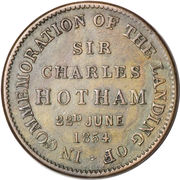 ½ Penny (T. W. Thomas & Co. - Melbourne, Victoria) -  revers