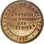 ½ Penny (Crocker & Hamilton - Adelaide, South Australia) -  revers