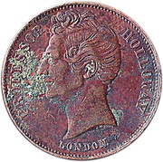 ½ Penny (Professor Holloway - London, England) -  avers