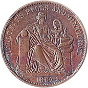 ½ Penny (Professor Holloway - London, England) -  revers