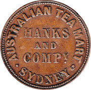 ½ Penny (Hanks & Compy. - Sydney, New South Wales) -  avers