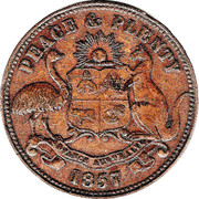 ½ Penny (Hanks & Compy. - Sydney, New South Wales) -  revers