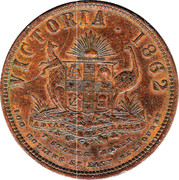 1 Penny (T. Stokes - Melbourne, Victoria) -  avers