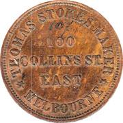1 Penny (T. Stokes - Melbourne, Victoria) -  revers