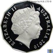 50 Cents - Elizabeth II (4th Portrait - Royal Engagement - Silver Proof) -  avers