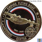 1 Dollar - Elizabeth II (6th Portrait - QANTAS - /singapore Service - Empire Flying Boat) -  revers