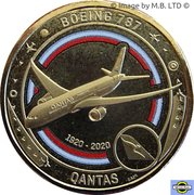 1 Dollar - Elizabeth II (6th Portrait - QANTAS - Flying to the Future - Boeing 787) -  revers