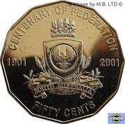 50 Cents - Elizabeth II (South Australia) -  revers