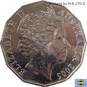 50 cents - Elizabeth II (XVIIIe Jeux du Commonwealth) -  avers