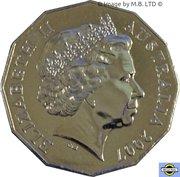 50 Cents - Elizabeth II (le Royal 60e anniversaire de mariage) -  avers