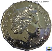 50 Cents - Elizabeth II (William and Kate) -  avers