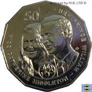 50 Cents - Elizabeth II (William and Kate) -  revers