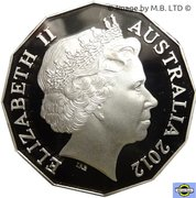 50 Cents - Elizabeth II (4th portrait; Selectively gold plated) -  avers