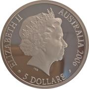 5 Dollars - Elizabeth II (4th Portrait - Melbourne City of Sport, Silver Proof) -  avers