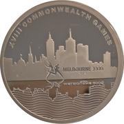 5 Dollars - Elizabeth II (4th Portrait - Melbourne City of Sport, Silver Proof) -  revers