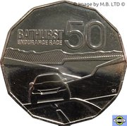 50 Cents - Elizabeth II (50 ans de Bathurst Race) – revers