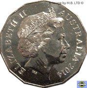 50 Cents - Elizabeth II (Tetra-décagone Series Année Lunaire du Cheval) -  avers