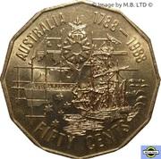 50 Cents - Elizabeth II (First Fleet) -  revers