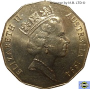 50 cents - Elizabeth II (Année internationale de la famille) -  avers