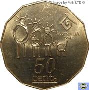 50 cents - Elizabeth II (Année internationale de la famille) -  revers