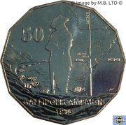 50 Cents - Elizabeth II (Gallipoli Campaign) -  revers
