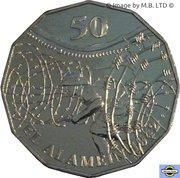 50 Cents - Elizabeth II (El Alamein) -  revers