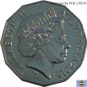 50 Cents - Elizabeth II (Greece) -  avers